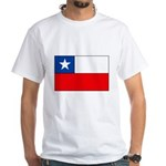 Chilean Flag White T-Shirt