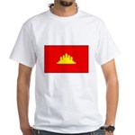 Cambodian Flag White T-Shirt