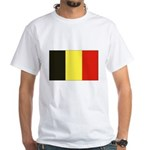 Belgian Flag White T-Shirt