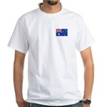 Australian Flag White T-Shirt