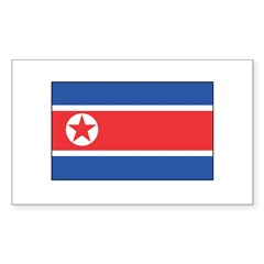 North Korean Flag Rectangle Decal
