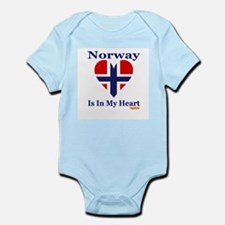 Norway - Heart Infant Bodysuit