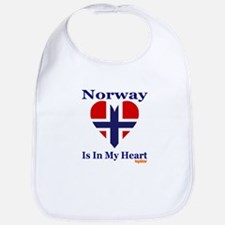 Norway - Heart Bib