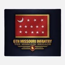 6th Missouri Infantry Throw Blanket