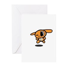 Cool Cute bunny cartoon Greeting Cards (Pk of 10)
