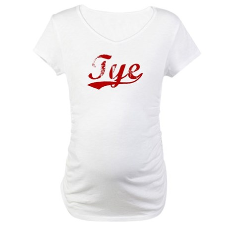 Tye (red vintage) Maternity T-Shirt