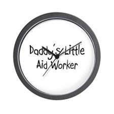 Daddy's Little Aid Worker Wall Clock