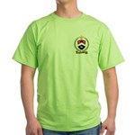 ARCENEAUX Family Crest Green T-Shirt