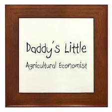 Daddy's Little Agricultural Economist Framed Tile