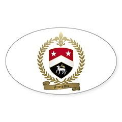 ARCENEAUX Family Crest Oval Decal