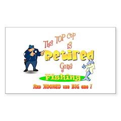 Top Cop's Big Catch. Rectangle Sticker 10 pk)