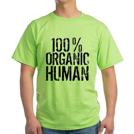 100% Organic Human Green T-Shirt