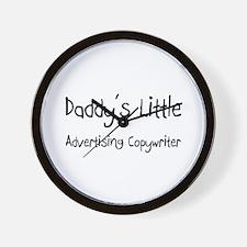 Daddy's Little Advertising Copywriter Wall Clock