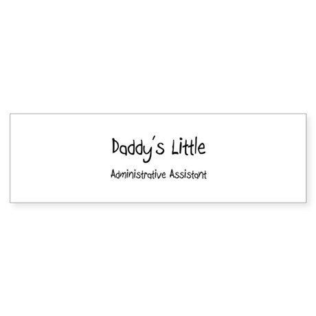 Daddy's Little Administrative Assistant Sticker (B