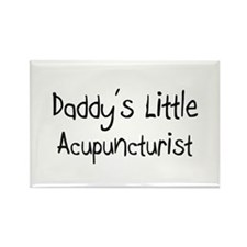 Daddy's Little Acupuncturist Rectangle Magnet