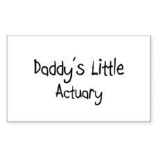 Daddy's Little Actuary Rectangle Decal