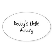Daddy's Little Actuary Oval Decal