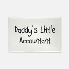 Daddy's Little Accountant Rectangle Magnet