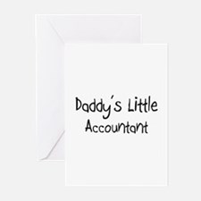 Daddy's Little Accountant Greeting Cards (Pk of 10
