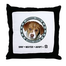 Ascension Parish Animal Shelter Throw Pillow