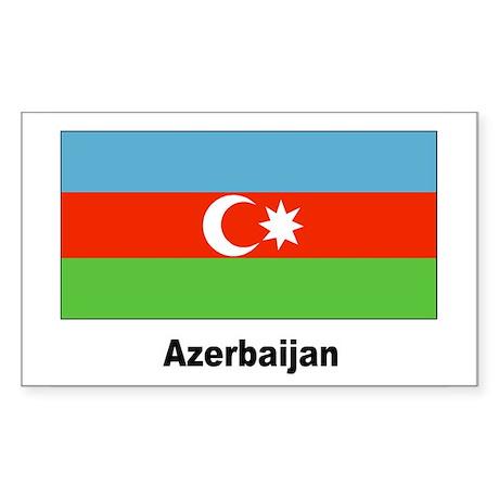 Azerbaijan Flag Rectangle Sticker