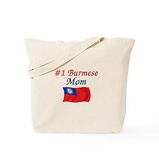 #1 Burmese Mom Tote Bag