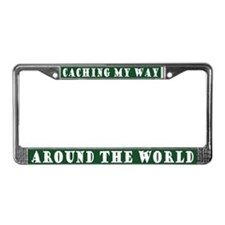 Geocaching World License Plate Frame
