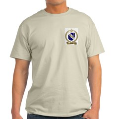 AUBIN Family Crest Ash Grey T-Shirt