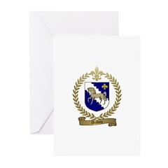 AUBIN Family Crest Greeting Cards (Pk of 10)