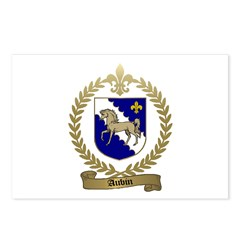 AUBIN Family Crest Postcards (Package of 8)