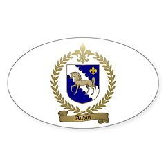 AUBIN Family Crest Oval Decal
