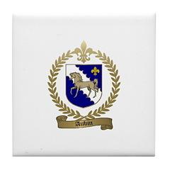 AUBIN Family Crest Tile Coaster