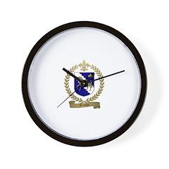 AUBIN Family Crest Wall Clock