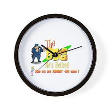 Top Cop Honey-Do list.' Wall Clock