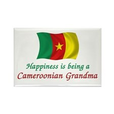 Happy Cameroon Grandma Rectangle Magnet