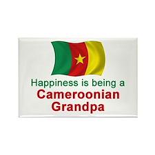 Happy Cameroon Grandpa Rectangle Magnet