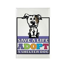 Adopt a Pitbull Rectangle Magnet