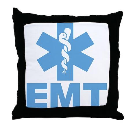 Blue EMT Throw Pillow