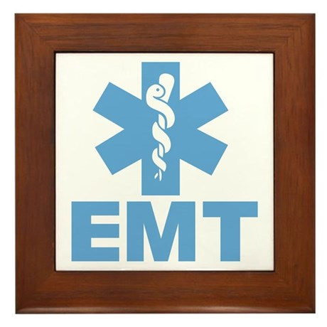 Blue EMT Framed Tile
