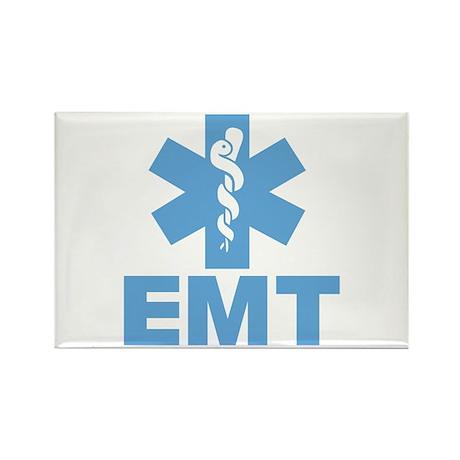 Blue EMT Rectangle Magnet (10 pack)