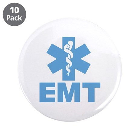"Blue EMT 3.5"" Button (10 pack)"