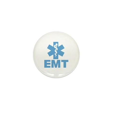 Blue EMT Mini Button