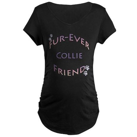 Collie Furever Maternity Dark T-Shirt