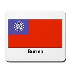 Burma Burmese Myanmar Flag Mousepad