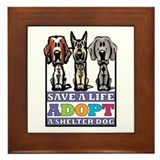 Adopt a shelter dog Framed Tiles