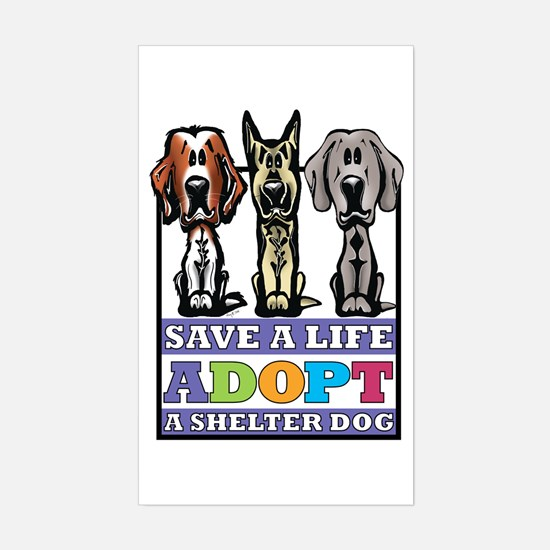 Adopt a Shelter Dog Rectangle Bumper Stickers