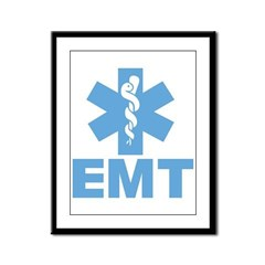 Blue EMT Framed Panel Print