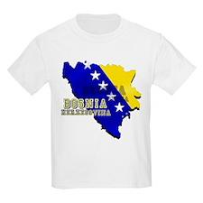 Flag Map of Bosnia T-Shirt