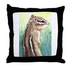 Throw Pillow chipmunk design