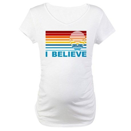 Colorful Alien Maternity T-Shirt